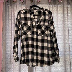Buffalo Plaid Flannel Button Down Shirt